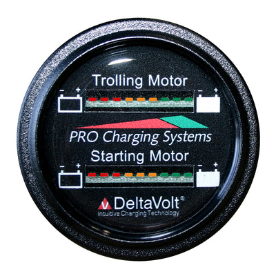 Dual Pro Battery Fuel Gauge - Marine Dual Read Battery Monitor - 12V System - 15' Battery Cable