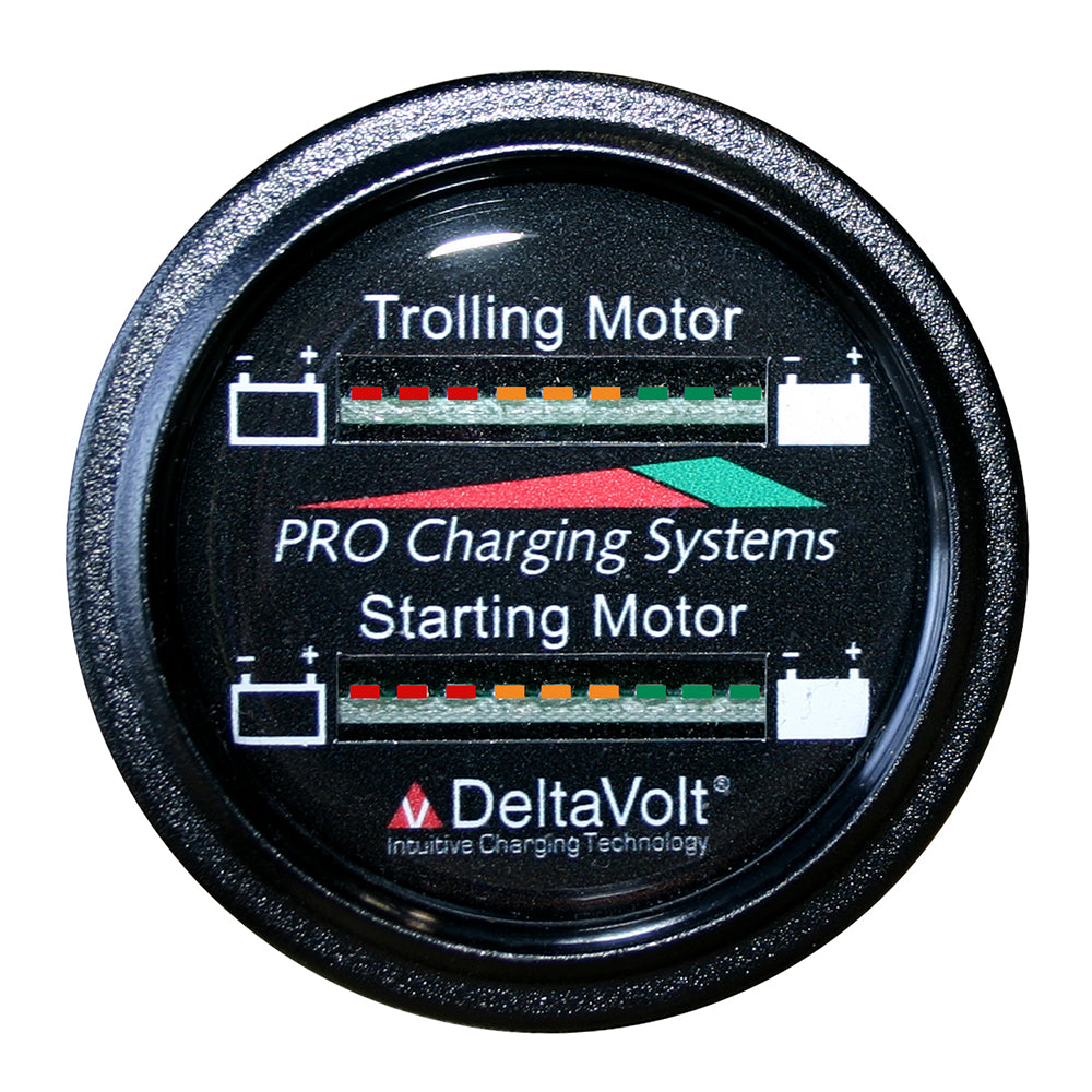 Dual Pro Battery Fuel Gauge - Marine Dual Read Battery Monitor - 12V/36V System - 15' Battery Cable