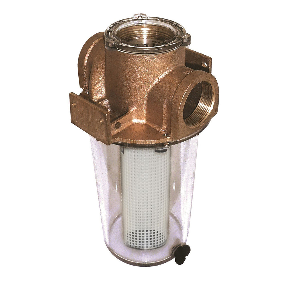 "GROCO ARG-1500 Series 1-1/2"" Raw Water Strainer w/Non-Metallic Plastic Basket"