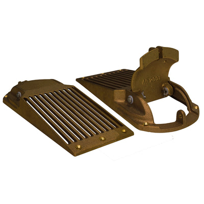 GROCO Bronze Slotted Hull Scoop Strainer w/Access Door f/Up to 1-1/4