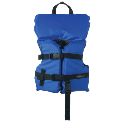 Onyx Nylon General Purpose Life Jacket - Infant/Child Under 50lbs - Blue