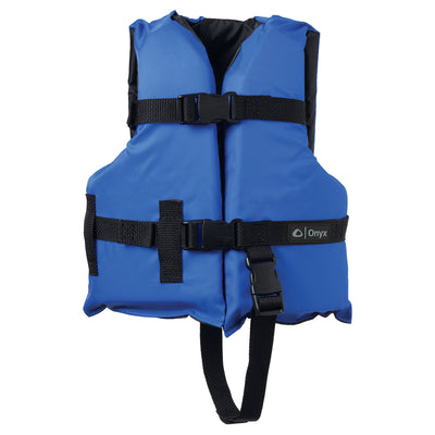 Onyx Nylon General Purpose Life Jacket - Child 30-50lbs - Blue