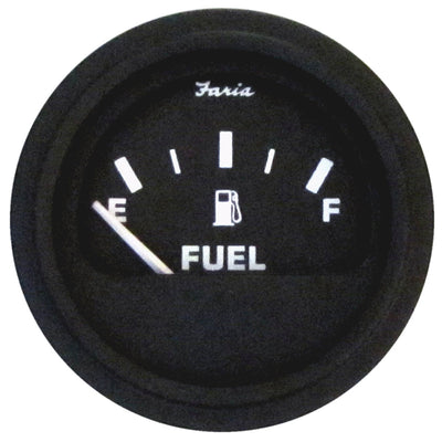 Faria Heavy-Duty Fuel Level Gauge (E-1/2-F) - Black *Bulk Case of 24*