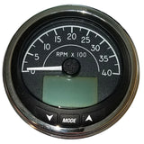 "Faria 4"" Tachometer (4000 RPM) J1939 Compatible w/o Pressure Port - Euro Black w/Stainless Steel Bezel"