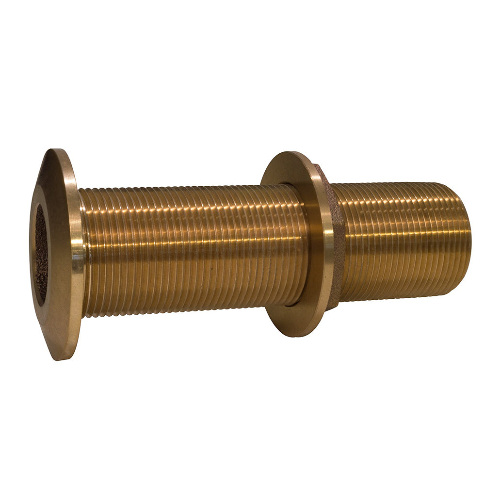 "GROCO 1-1/2"" Bronze Extra Long Thru-Hull Fitting w/Nut"