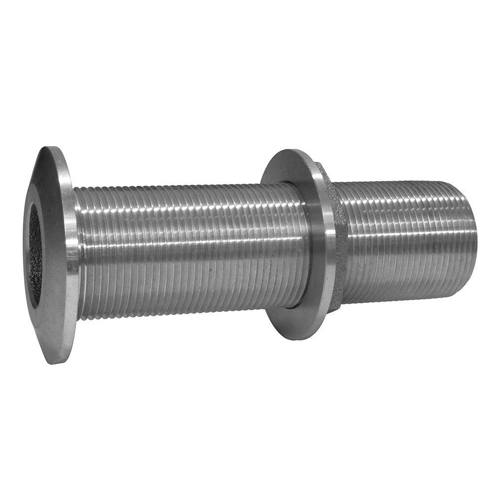 "GROCO 3/4"" Stainless Steel Extra Long Thru-Hull Fitting w/Nut"