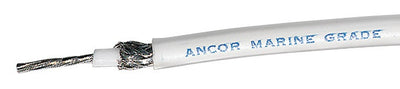 Ancor RG8X 500FT Spool Tinned Copper, White