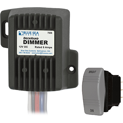 Blue Sea Systems Dimmer, DeckHand, 12V, 6A