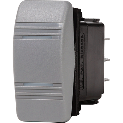 Blue Sea Systems Contura Switch, Gray, DPDT On-Off-On