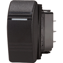 Blue Sea Systems Contura Switch, Black, SPST Off-On