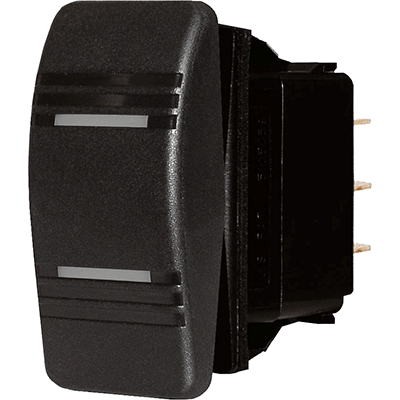 Blue Sea Systems Contura Switch, Black, DPDT On-Off-On