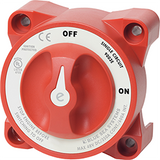 Blue Sea Systems E Ser. Batt Sw, 1 Ckt On-Off, Red