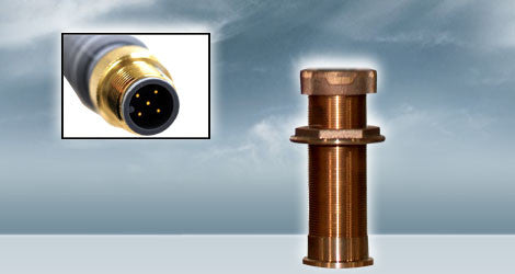 Furuno 235-MSLF Long Stem Bronze NMEA2000 Depth And Temp