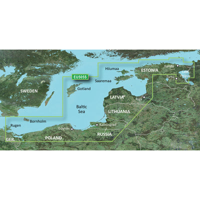 Garmin BlueChart g2 Vision HD - VEU505S - Baltic Sea, East Coast - microSD/SD