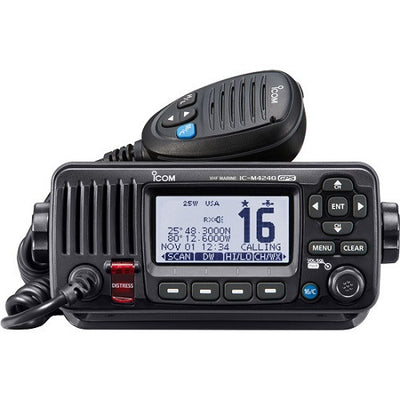 Icom M424G Black VHF Radio Class D DSC BUILT-IN GPS