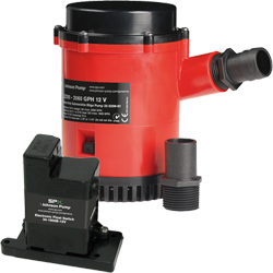 Johnson Pump HD Bilge Pump 2200 GPH, w/EM Switch, 12V