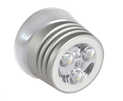 Lumitec Zephyr Deck Light Brushed/White Housing White