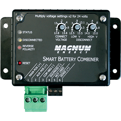 Magnum Energy Smart Two-Bank Battery Combiner, 25A