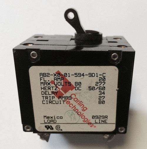 Newmar 30 Amp Double Pole Breaker W/ Black Throw
