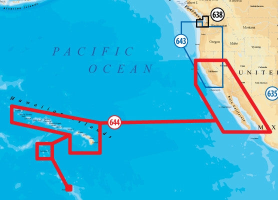 Navionics MSD644 Platinum Plus California South - Baja Hawaii
