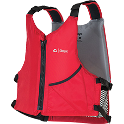 Onyx Outdoors Universal Paddle Vest, Adult, Red
