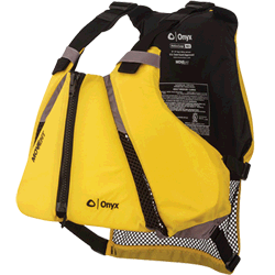 Onyx Outdoors MoveVent Curve Life Vest Yellow, XL/2XL