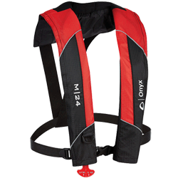 Onyx Outdoors M-24 Manual Inflatable Life Jacket, Red