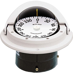 "Ritchie Navigation Compass, Flush Mount, 3"" Dial, White"