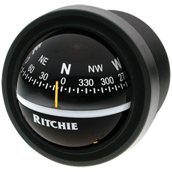 "Ritchie Navigation Compass, Dash Mount, 2.75"" Dial, Blk."