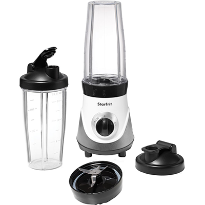 Starfrit Personal Blender, w/Two Cups, Two Blades