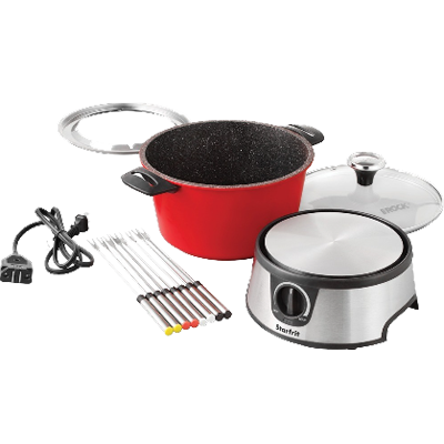 The Rock Electric Fondue Set, Red