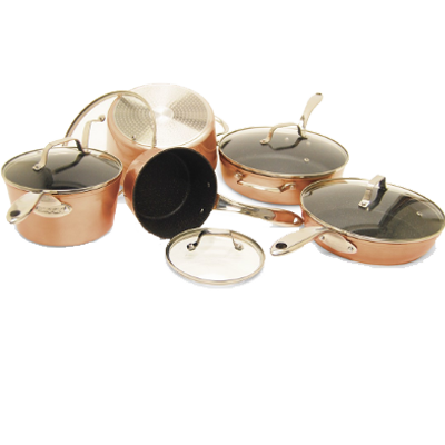 The Rock 10-Pc. Copper Set w/SS Handles