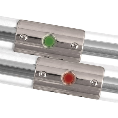 TACO Rub Rail Mounted Navigation Lights for Boats Up To 30' - Port & Starboard Included