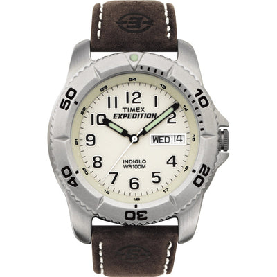TIMEX EXPEDITION MEN'S TRADITIONAL SILVER/BROWN