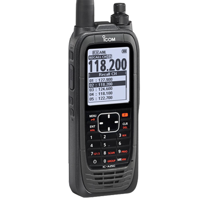 Aviation VHF, Handheld, w/AA Batt Pk
