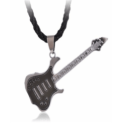 Rock Guitar Necklace Stainless Steel Plating Copper Alloy