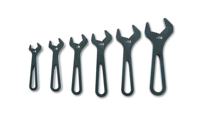 Vibrant AN Wrench Set, -4AN to -16AN - Anodized Black