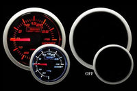 Boost Gauge: -30 to 30 PSI - Mechanical Prosport Performance Series (Amber/White)