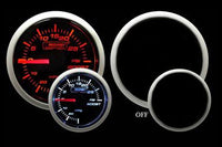 Boost Gauge: -30 to 30 PSI - Electrical Prosport Performance Series (Amber/White)