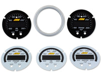 AEM X-Series Water/Oil/Trans Temperature Gauge Silver Bezel & Faceplate Accessory Kit (30-0302-ACC)