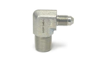 "'-4AN 90° to 3/8"" NPT Male Steel Turbo Adapter Fitting"