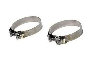 Vibrant Stainless Steel T-Bolt Band Clamps (2 Pack)