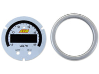 AEM X-Series Voltmeter Gauge Silver Bezel & White Faceplate Accessory Kit (30-0303-ACC)