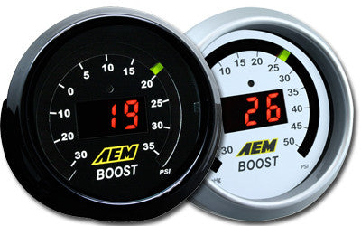 AEM DIGITAL BOOST GAUGE -30 - 35PSI  (30-4406)