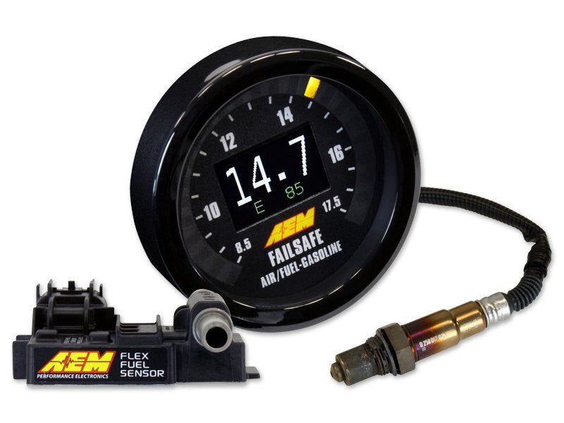 AEM X-Series Flex Fuel Wideband FAILSAFE Gauge (With Ethanol Content Sensor) (30-4911)