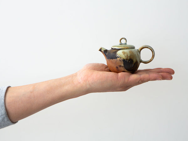 Abstract, Var. 1. Teapot in hand to show relative size.