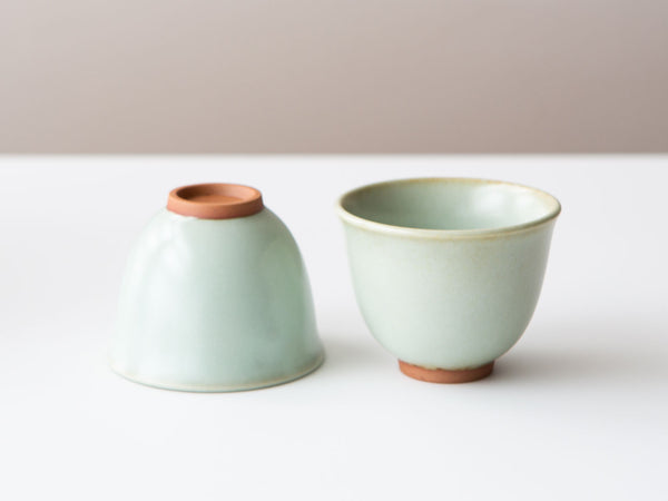 A Pair of Celadon Tulip Cups