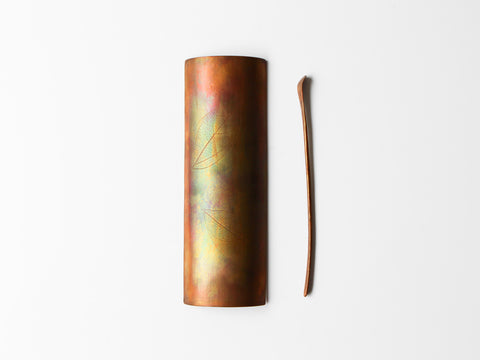 Copper Tea Utensils, Leaf
