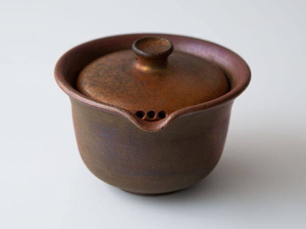 Wood-fired Shiboridashi, Variation 2 Front View (showing holes on lid)