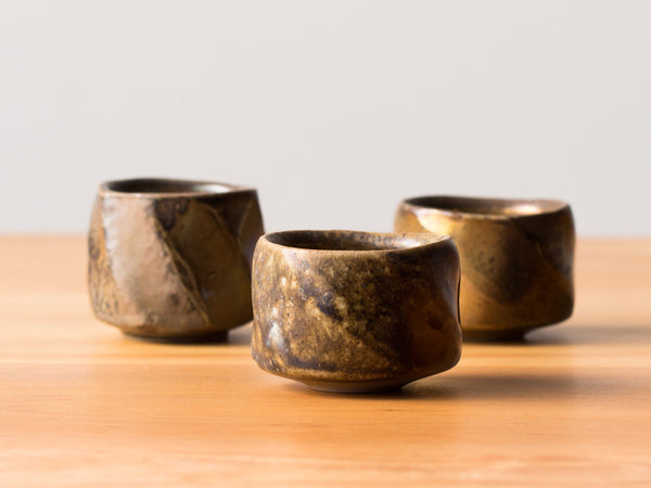 A Pair of Small Facet Cups